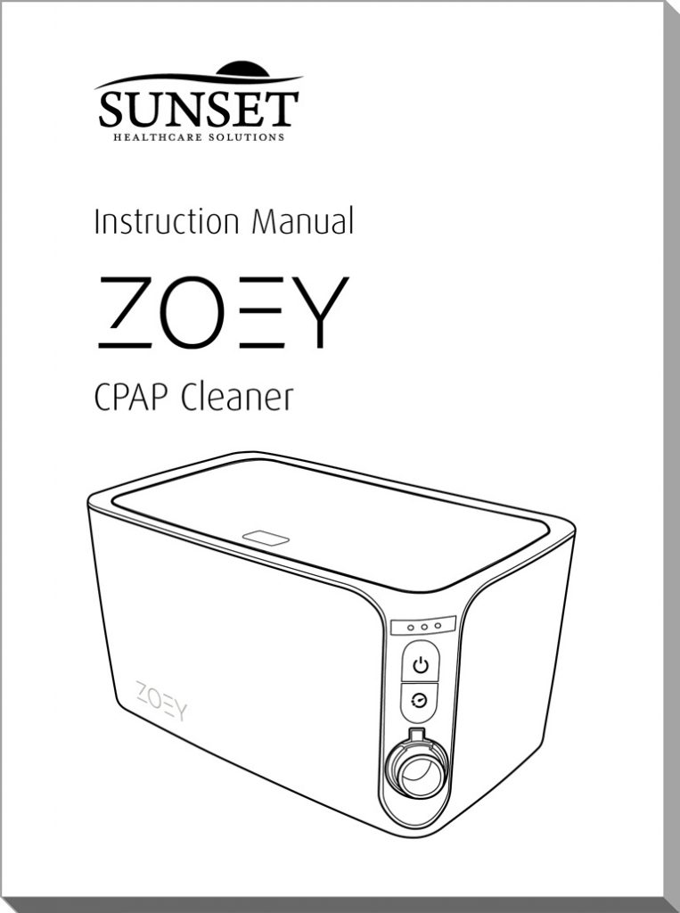 Zoey CPAP Cleaner Manual Cover